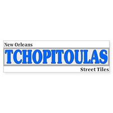 New Orleans Tchopitoulas Bumper Sticker