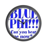 BLUE PHI Wall Clock