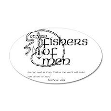 Fishers of Men 38.5 x 24.5 Oval Wall Peel