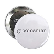 Groomsman Grey Text Wedding Button