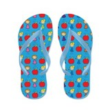 Teacher Stick Figure School Flip Flops