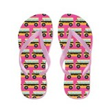 2nd Grade Teacher Pink School Flip Flops
