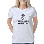 Name Tag Organic Women's Fitted T-Shirt (dark)