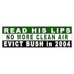 Read His Lips: Dirty Air Bumper Sticker