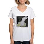 Umbrella Cockatoo 2 Women's V-Neck T-Shirt