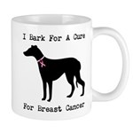 Greyhound Personalizable I Bark For A Cure Mug