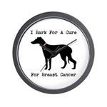 Greyhound Personalizable I Bark For A Cure Wall Cl