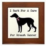 Greyhound Personalizable I Bark For A Cure Framed