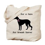 Greyhound Personalizable I Bark For A Cure Tote Ba