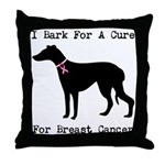 Greyhound Personalizable I Bark For A Cure Throw P