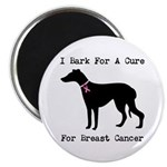 Greyhound Personalizable I Bark For A Cure Magnet