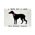 Greyhound Personalizable I Bark For A Cure Rectang