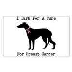 Greyhound Personalizable I Bark For A Cure Sticker