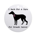 Greyhound Personalizable I Bark For A Cure Ornamen