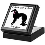 Irish Setter Personalizable I Bark For A Cure Keep