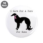 Irish Setter Personalizable I Bark For A Cure 3.5