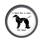 Irish Setter Personalizable I Bark For A Cure Wall
