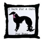 Irish Setter Personalizable I Bark For A Cure Thro