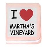 I heart martha's vineyard baby blanket