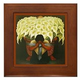 Diego Rivera Cala Lily Vendor Art Framed Tile