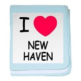 I heart new haven baby blanket