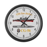USS San Jacinto CG-56 Large Wall Clock