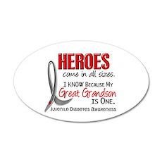 Heroes All Sizes Juv Diabetes 22x14 Oval Wall Peel