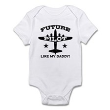 Future Pilot Like My Daddy Infant Bodysuit