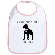 Pitbull Personalizable I Bark For A Cure Bib
