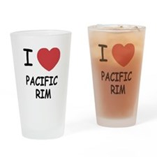 I heart pacific rim Drinking Glass