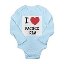 I heart pacific rim Long Sleeve Infant Bodysuit