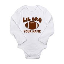 Lil Bro Football Long Sleeve Infant Bodysuit