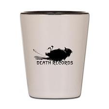 Death Records Shot Glass
