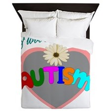 I love someone with autism 3 Queen Duvet