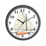 Maine Sloop Wall Clock