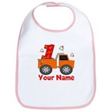 1st Birthday Dump Truck Bib