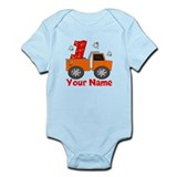1st Birthday Dump Truck Infant Bodysuit