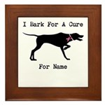 Pointer Personalizable I Bark For A Cure Framed Ti