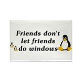 Friends don't let friends - Rectangle Magnet