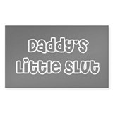 Daddy's Little Slut Stickers