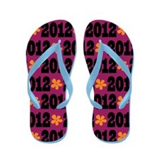 2012 School Granduation Daisy Flip Flops