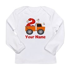 2nd Birthday Dump Truck Long Sleeve Infant T-Shirt