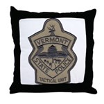 VT State Police Tac Throw Pillow