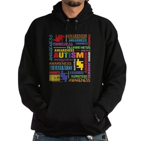 Autism Awareness Collage Hoodie (dark)