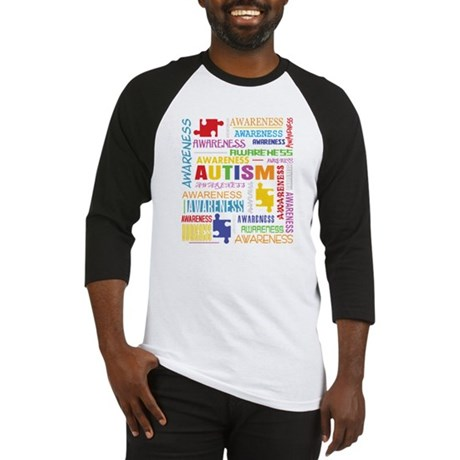 Autism Awareness Collage Baseball Jersey