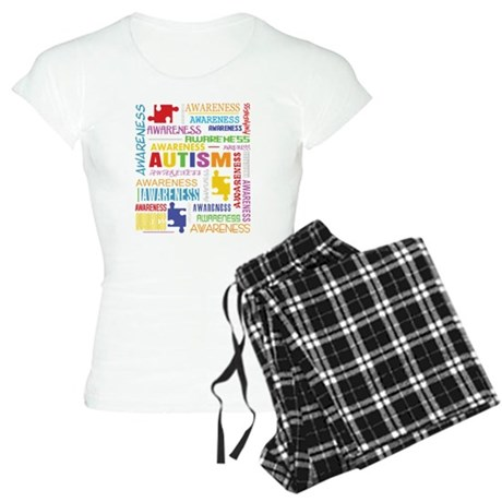 Autism Awareness Collage Women's Light Pajamas