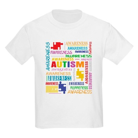 Autism Awareness Collage Kids Light T-Shirt