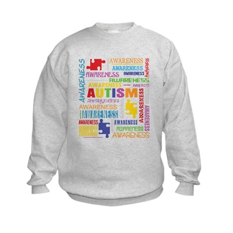 Autism Awareness Collage Kids Sweatshirt
