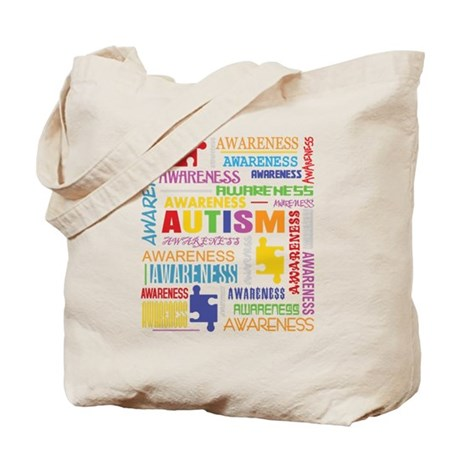 Autism Awareness Collage Tote Bag