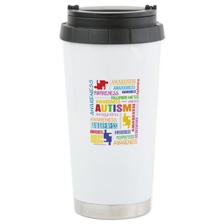 Autism Awareness Collage Ceramic Travel Mug